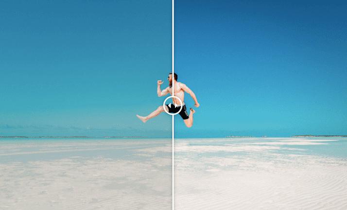 Presets la Lr: preestablecido de sala de luz de playa libre