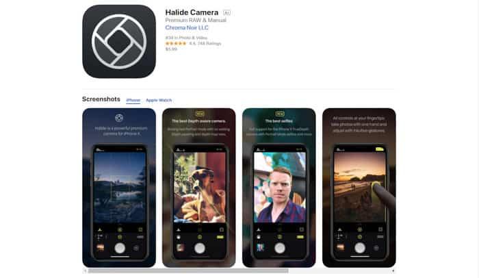 Apps de fotografía profesional