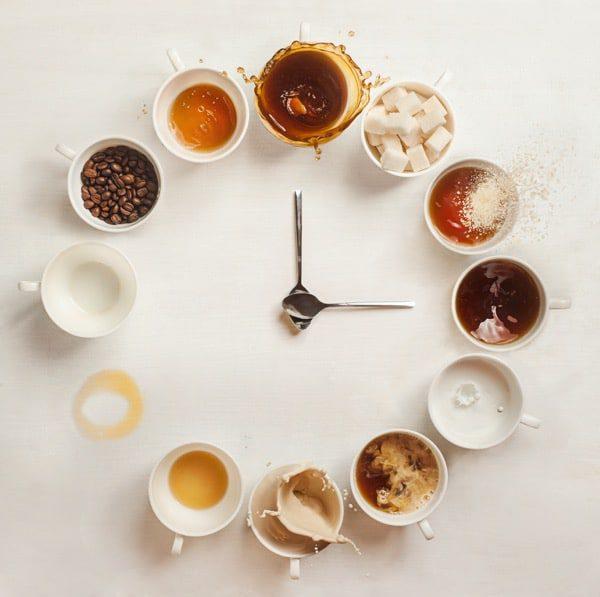 Relojes de café abstractos
