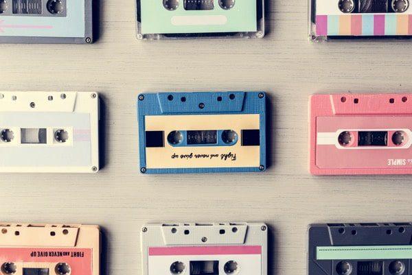 Cassette Tape Vintage Set Colección