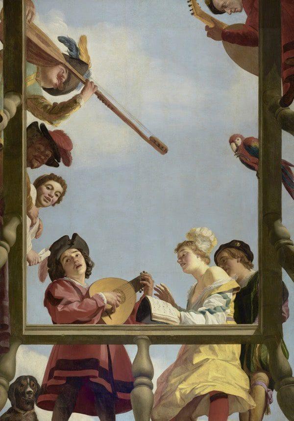Grupo musical holandés de pintura al óleo