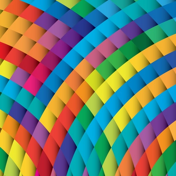 Curva geométrica colorida textura cuadrada