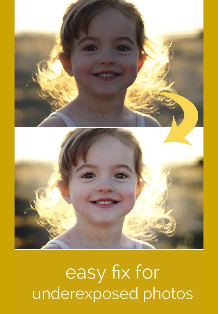 Solución fácil para fotos oscuras o subexpuestas