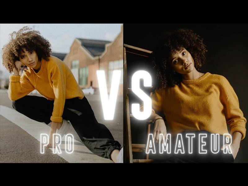 fotógrafo amateur vs pro