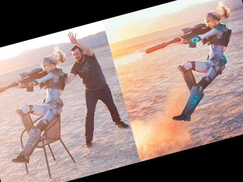 cosplay en el desierto