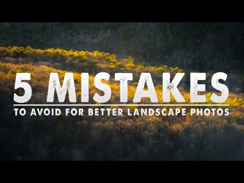 errores en paisajes