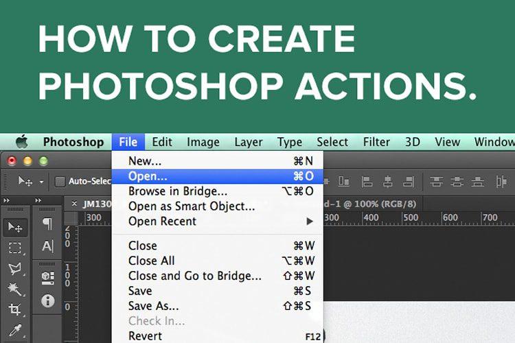 Mejores tutoriales de adobe photoshop: Cómo crear acciones de Photoshop