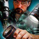 ¿Cómo hacer una lámpara de un lente de cámara?