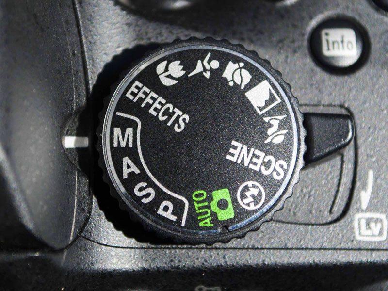modos cámara reflex