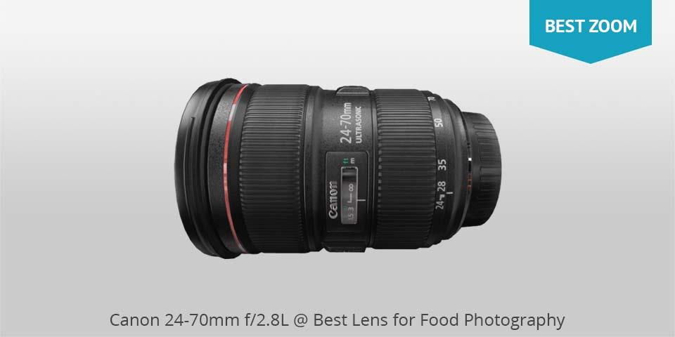 Canon 24-70mm lente para comida photo