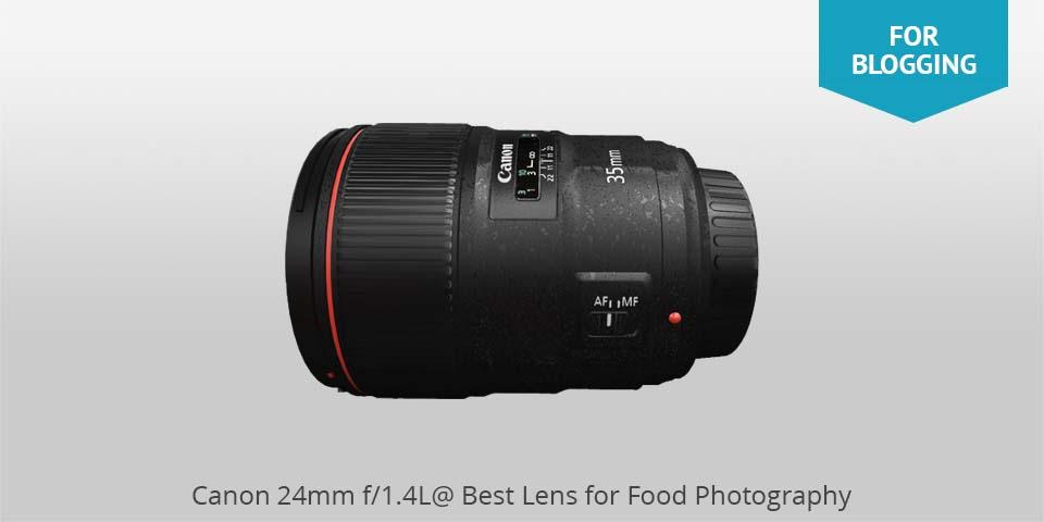 Los mejores lentes para fotografía de comida: Canon canon 24mm para comida photo