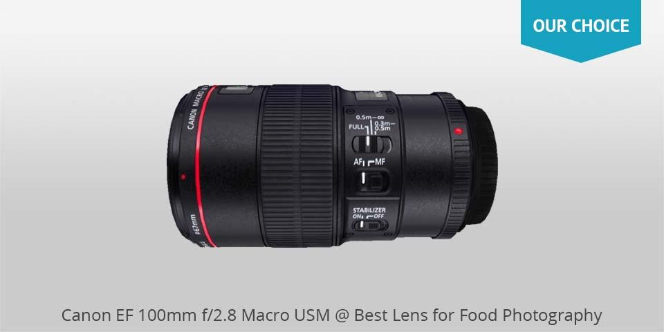 Canon ef 100 mm macro usm lente para alimentos photo
