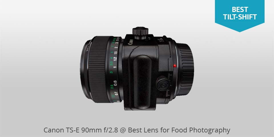 Canon ts-e 90mm lente para comida photo