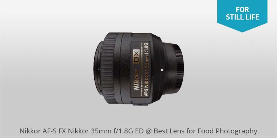 Los mejores lentes para fotografía de comida: Nikon 35mm af-s lens para comida photo