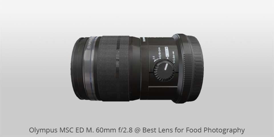 Olympus msc 60mm lente para comida photo