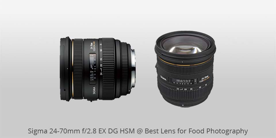Sigma 24-70 mm ex dg lente para alimentos photo