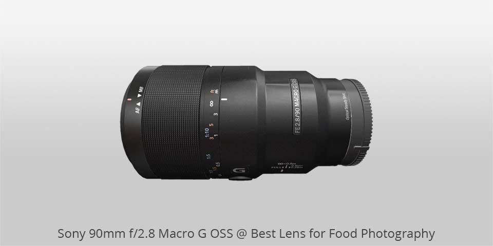 Los mejores lentes para fotografía de comida: Lente macro de 90 mm de Sony para alimentos photo