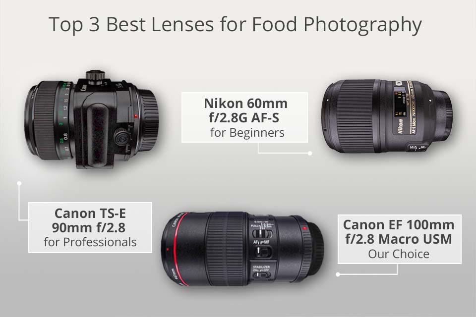 Top 3 mejores lentes para fotografía de alimentos