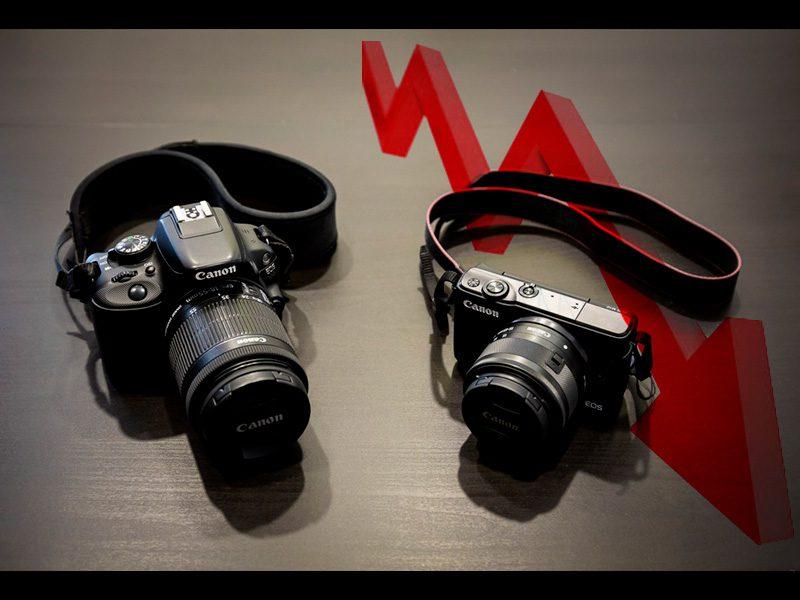 canon caida del mercado de cámaras