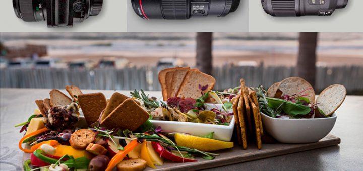 lentes para fotografía de comida