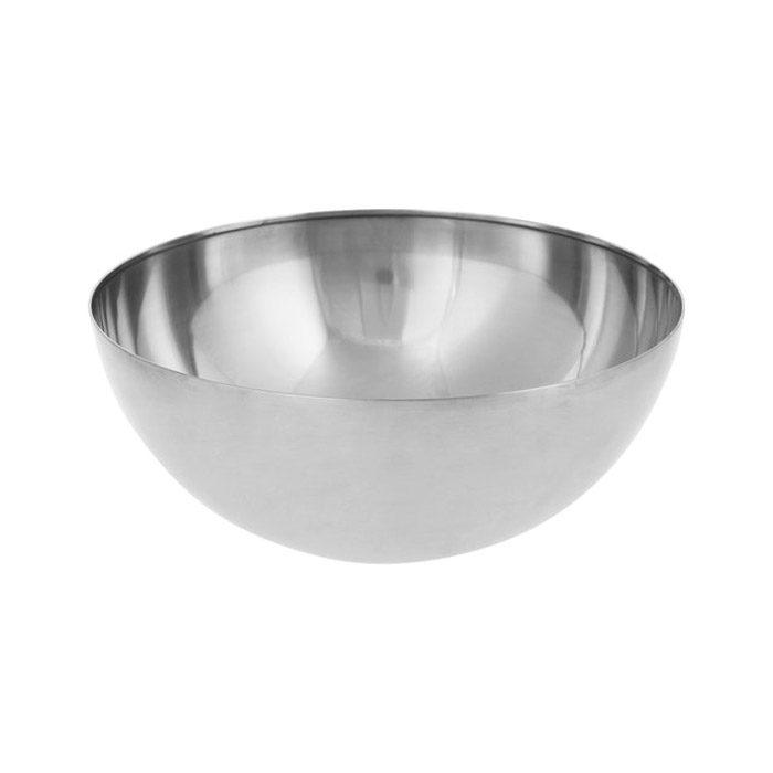 Un recipiente de metal blanco en blanco puede convertirse fácilmente en un plato de belleza para la fotografía de productos.