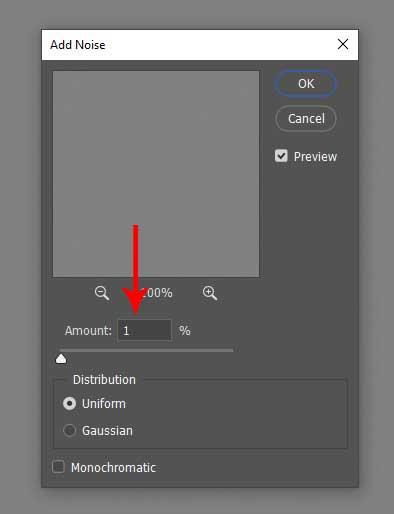 Tutorial de photoshop para eliminara la papada: eliminar la cantidad de ruido