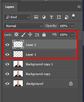 eliminar el doble mentón photoshop creando capas