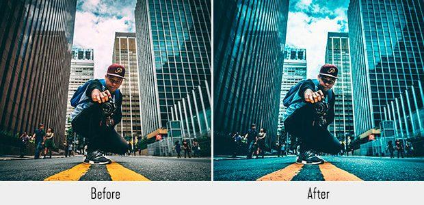 ciudad urbana hipster preestablecido