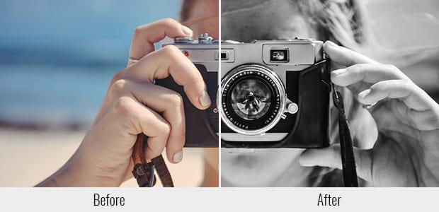 Alto contraste en blanco y negro