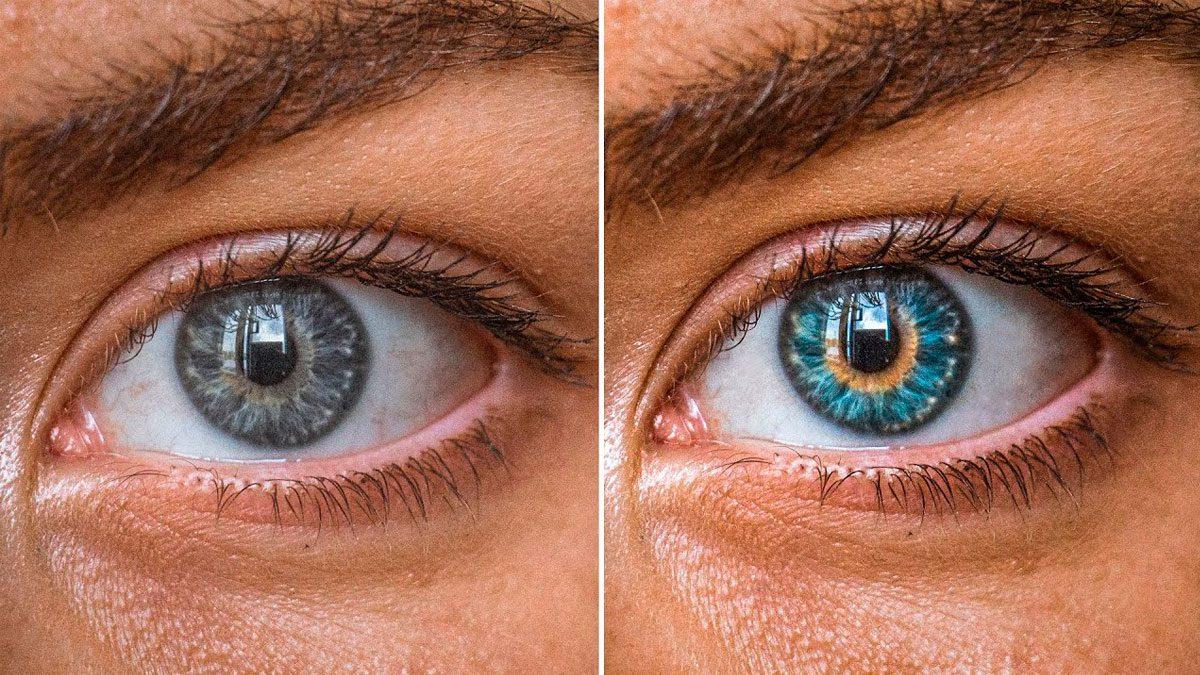 ojos hermosos y coloridos en ps