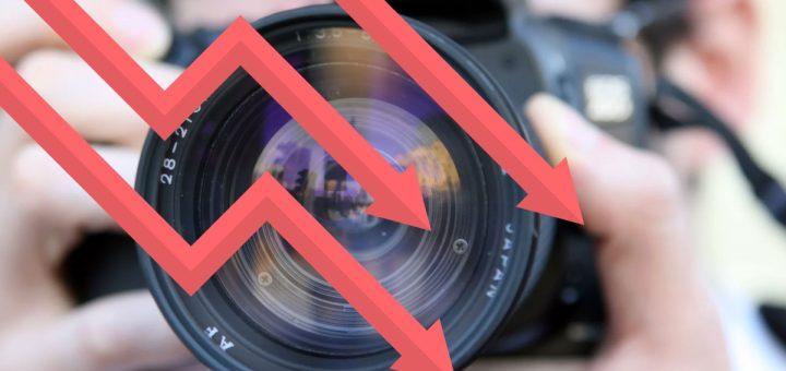 Mercado de cámaras cae