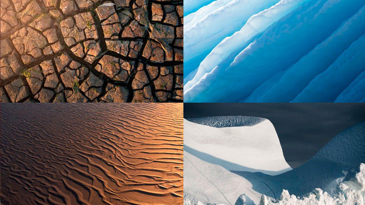 fotografía abstracta de paisajes