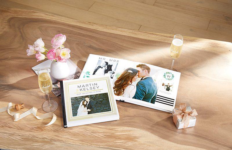 elegante álbum de aniversario de boda