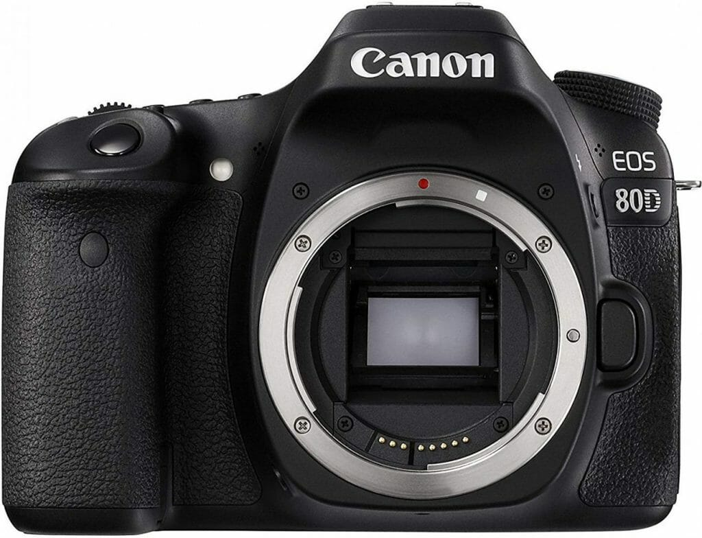 Mejores cámaras DSLR:  Canon EOS 80D