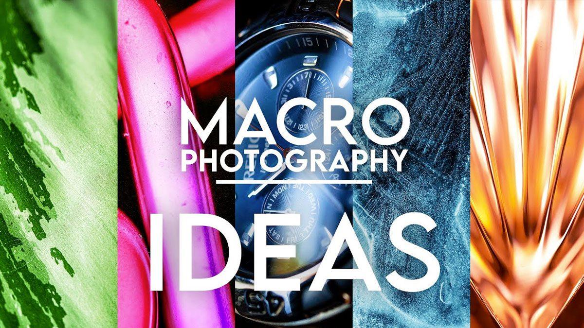 Ideas de fotografía macro en casa