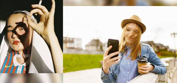 Poses para mujeres en selfies