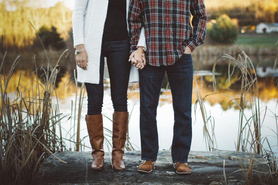 Ideas de poses en pareja - romántico