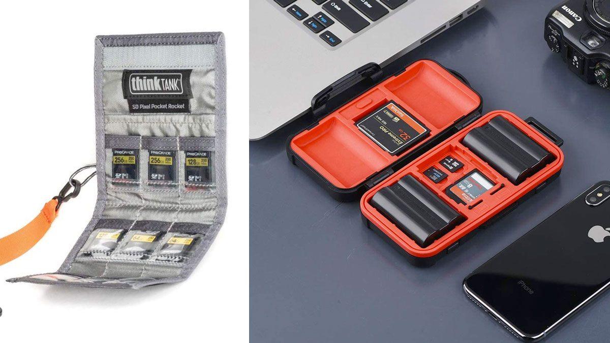 Estuches y porta tarjetas sd para fotógrafos