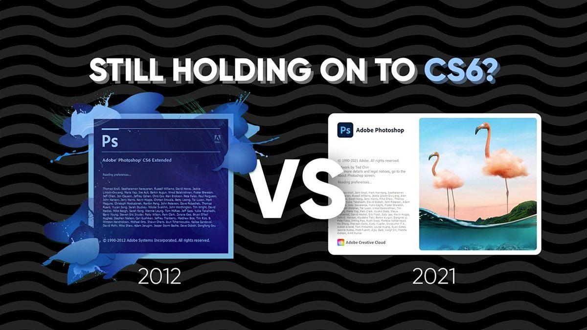 Comparación photoshop Cs6 y CC2021